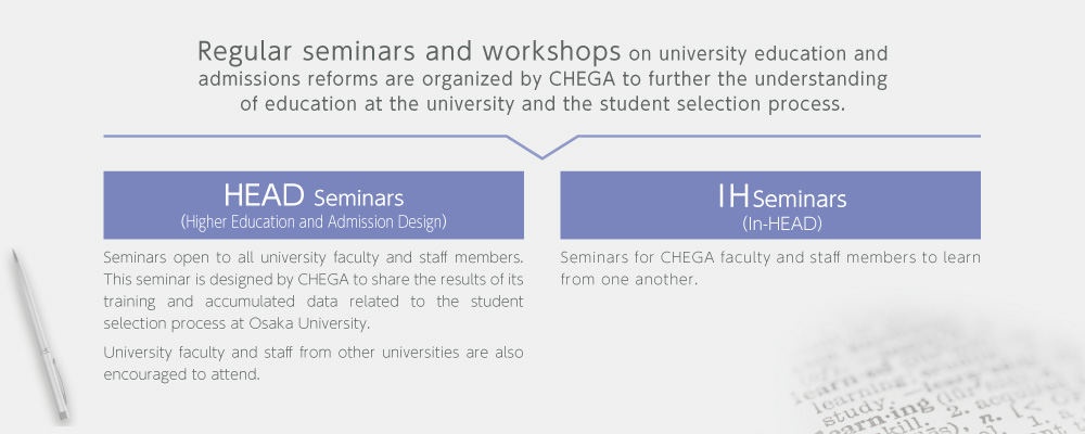 Regular seminars and workshops on university education ?>